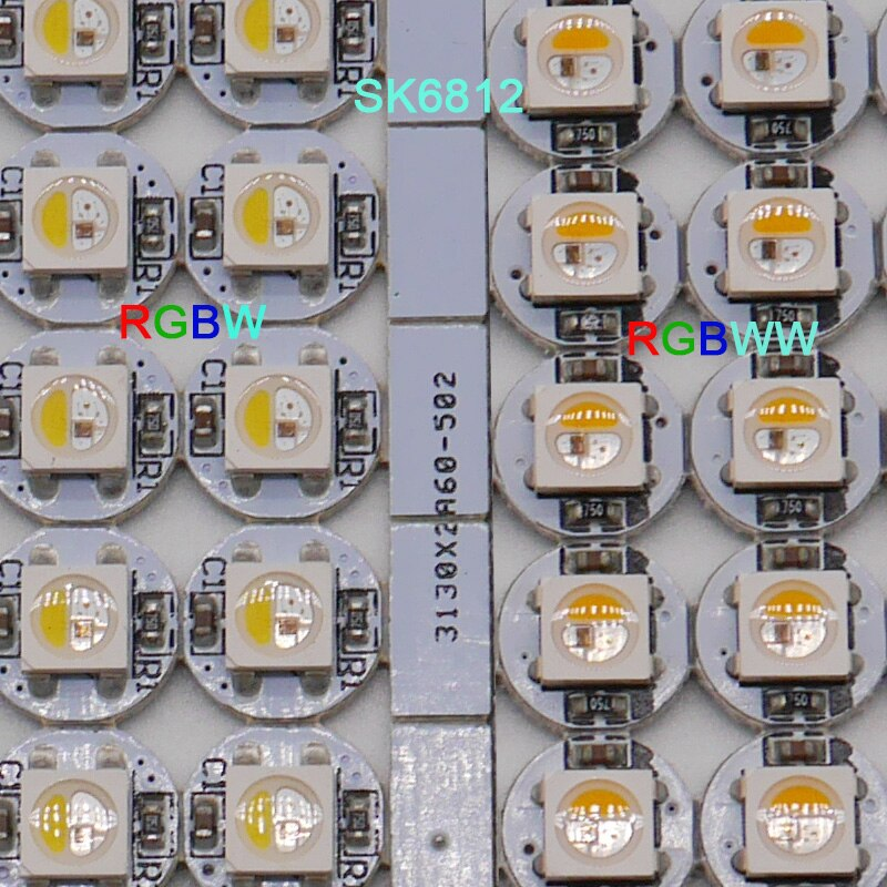100pcs SK6812 LED Board Heatsink RGBW/RGBWW LED chips (10mm*3mm) SK6812 IC Built-in 5050 SMD RGB DC5V