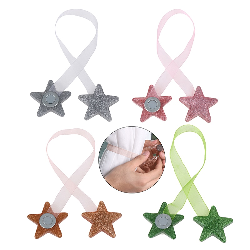 1 Uds. Ventana clip de decoración Correa forma de estrella imán cortina hebilla malla Tieback titular