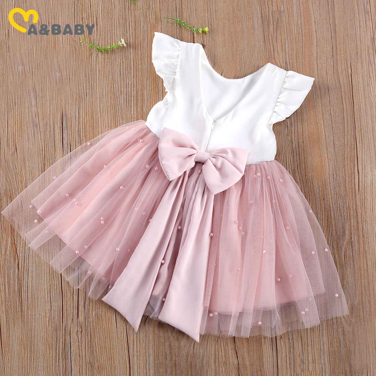 aliexpress - Ma&Baby 6M-5Y Princess Toddler Kid Child Girl Tutu Dress Pearl Tulle Party Wedding Birthday Valentines Day  Dresses For Girls