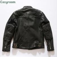 pj900 super offer read description asian size genuine cow skin leather coat mens cowhide casual jacket
