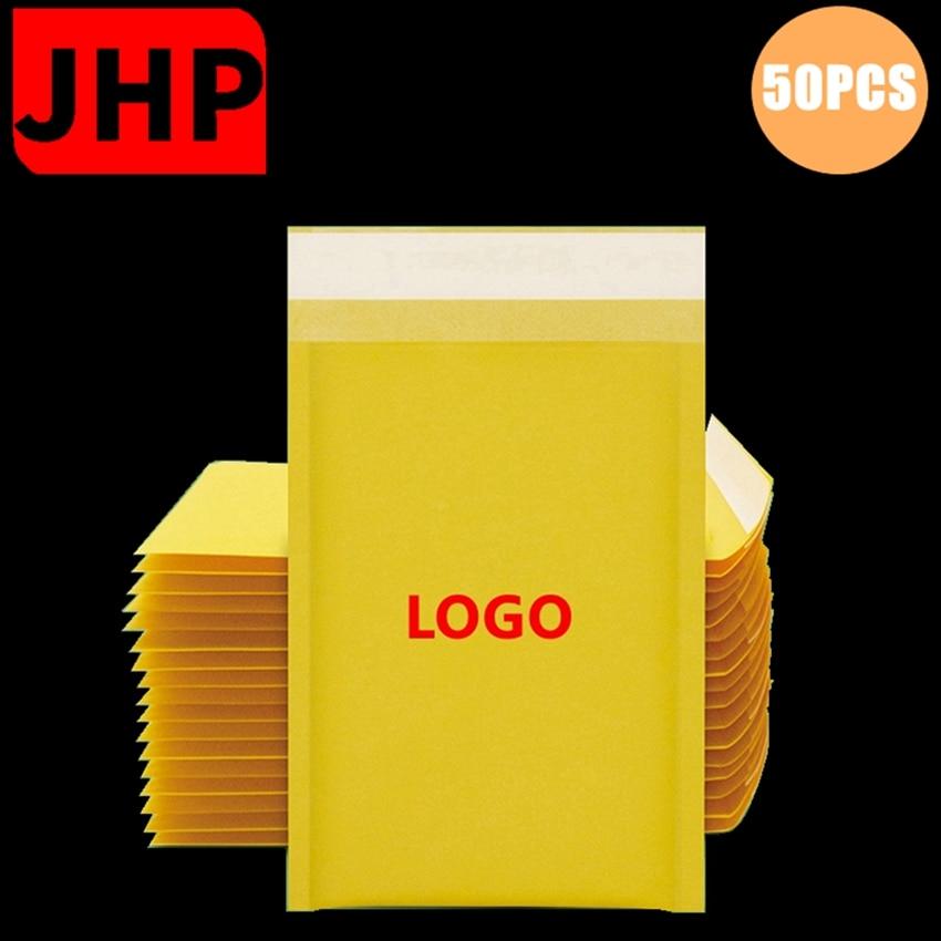 50PCS Kraft Paper Bubble Envelope Bag,Bump-Proof Custom Mailer Bags,Self Sealing Packing Bags for Express Package