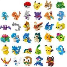 LNO pas de mini jeu de boules danime Pikachued diamant mini blocs de construction blocs de construction briques série jouets jeux