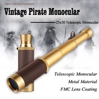 hd vision 25x50 telescopic pirate monocular for kids adults spyglass for camping moon watching handheld collapsible telescope