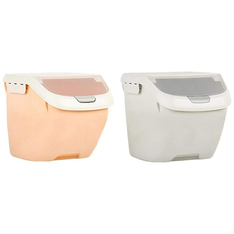 حار SV-الأرز تخزين الحاويات 10 كجم/22 رطل ، حاويات الحبوب مع البلاستيك خالية من BPA وتصميم محكم