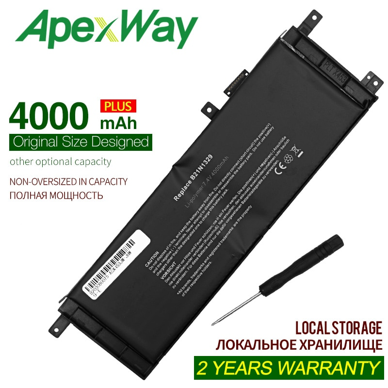 ApexWay 7,4 V 4000mAh B21N1329 batería Asus D553M F453 F453MA F553M P553 P553MA X453 X453MA X553 X553M X553B X553MA X503M X403M