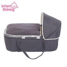 Infantil brilhante portátil berço da cama do bebê criança berço cesta multifuncional móvel berço de viagem de segurança confortável