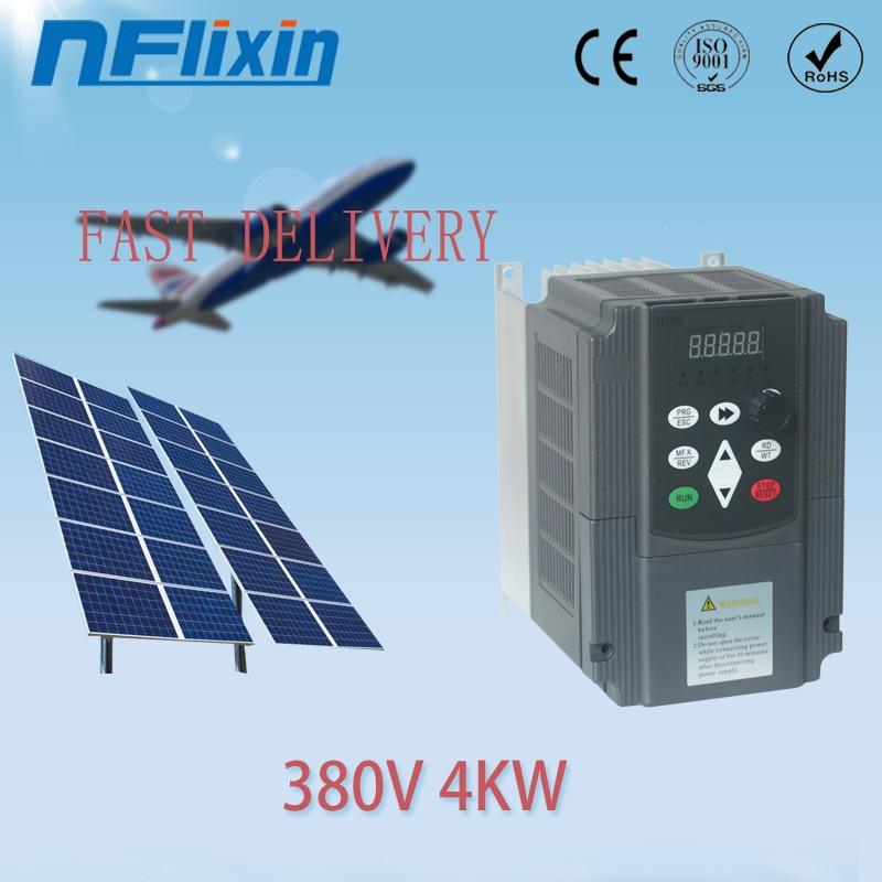 380v 0.75kw-4kw VFD Solar inversor de frecuencia Variable/VFD ENTRADA DE CC 3HP salida 380V controlador de bomba de agua control de velocidad
