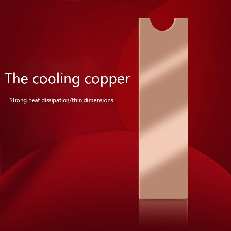 Disipador térmico NVME, disipador térmico M.2, disipador térmico NGFF M.2 2280, disipador térmico de silicona con conductividad, ventilador enfriador K1AA