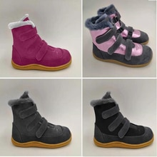 TipsieToes Top Brand Barefoot Genuine Leather Baby Toddler Girl Boy Kids Shoes For Fashion Winter Sn