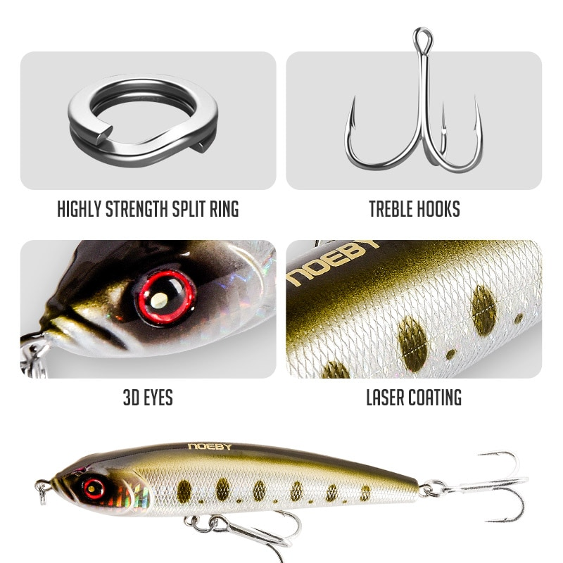 NOEBY Vibrate Sinking Pencil Fishing Lure 140 160 180mm Long Casting 9062 Artificial Hard Bait For Gt Ocean Saltwater Wobblers enlarge