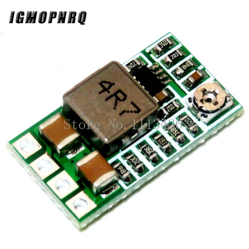 10 Uds Mini DC-DC 12-24V a 5V 3A reductor módulo de fuente de alimentación voltaje convertidor Buck ajustable 97.5% 1,8 V 2,5 V 3,3 V 5V 9V 12V