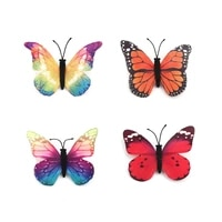 new fashionable animal shape brooch colorful butterfly brooch fabric pin brooches ethereal butterfly fuchsia 60mmx 55mm 1piece