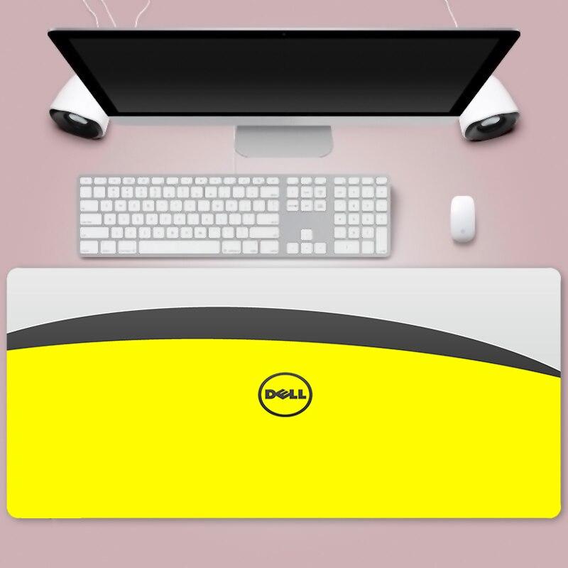 Mouse pad grande com logo dell, mouse pad de borracha para teclado de alta velocidade para jogos em computador notebook