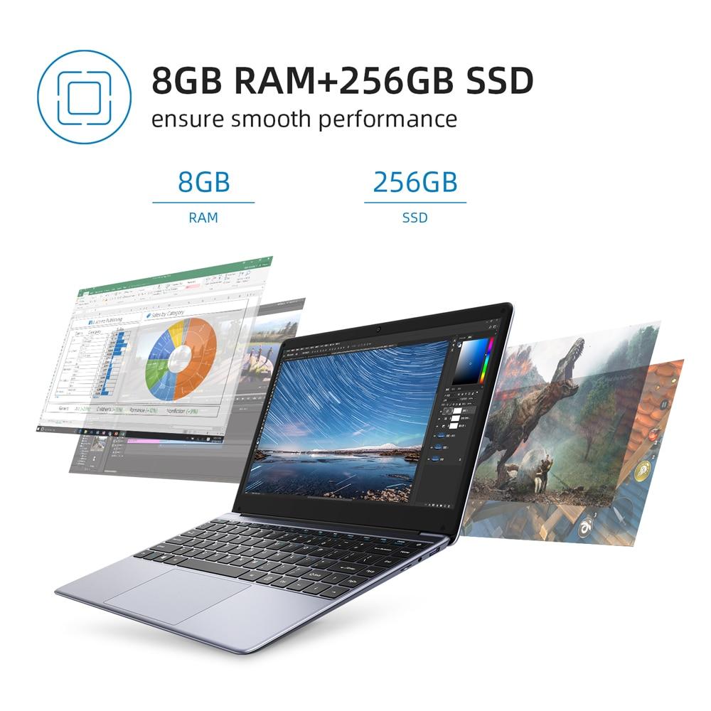 CHUWI HeroBook Pro 14.1 Inch  FHD Screen Intel Celeron N4020 UHD Graphics 600 8GB RAM 256GB SSD Windows 10 Laptops