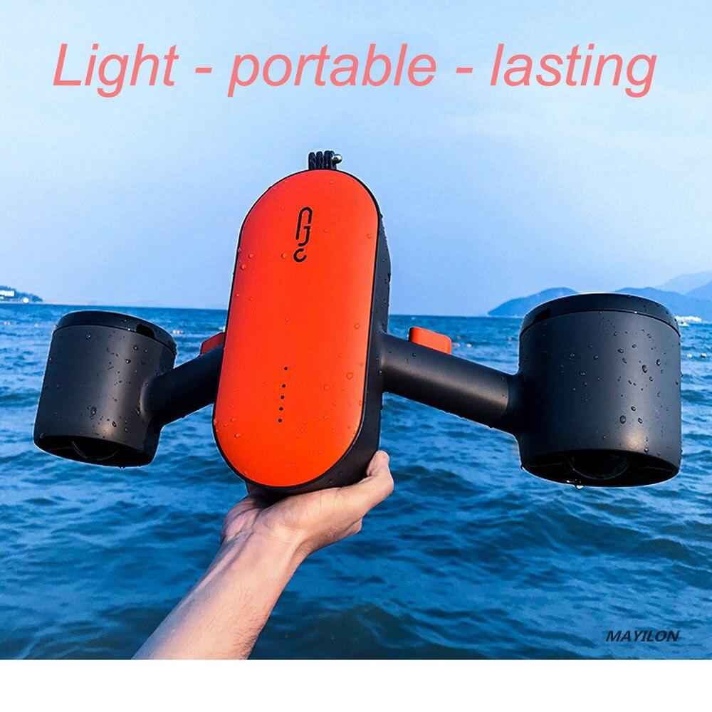 350 واط تحت الماء سكوتر المياه Autocycle الكهربائية مزدوجة السرعة المياه المروحة مناسبة ل المحيط و بركة الغوص أدوات رياضية