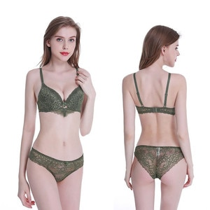 Sexy Women Underwear Transparent Hot selling Lace Sexy Bra Set  Lingerie Women Underwear Set Bra Lingeries Sets