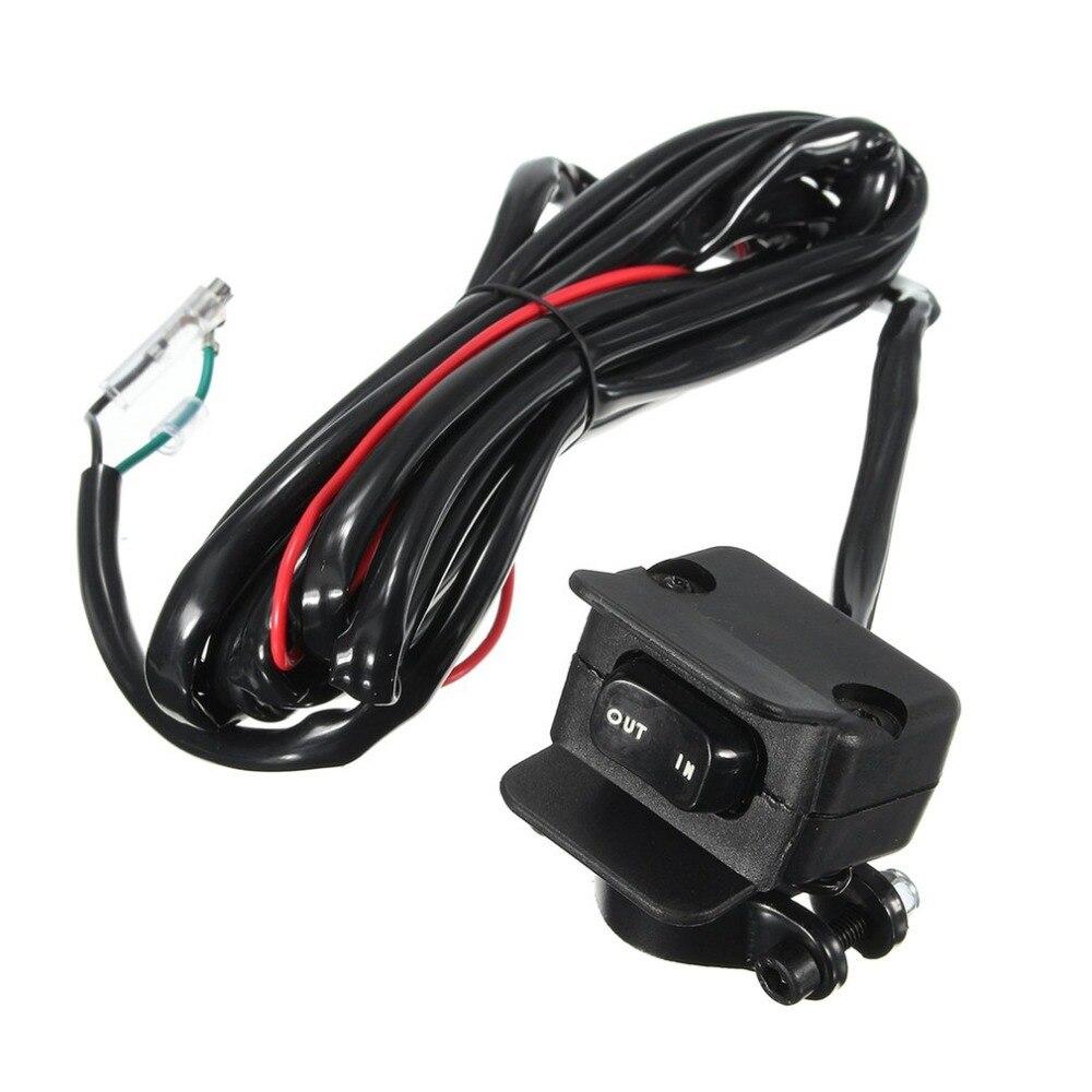 Motocicleta ATV/UTV 3 metros Winch basculante interruptor manillar Línea de Control Warn Kits 12V completo sellado interruptor conectores suministros