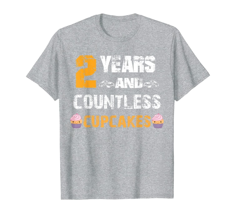 Забавная футболка на 2-й годовщину свадьбы с кексами в подарок для выпечки
