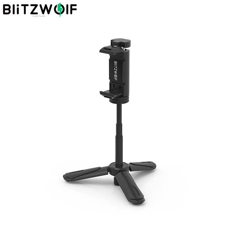BlitzWolf BW-BS0 Mini Desktop Multi-angle Tripod Phone Holder Portable Selfie Monopod for Phone Camera LED Light Selfie Sticks