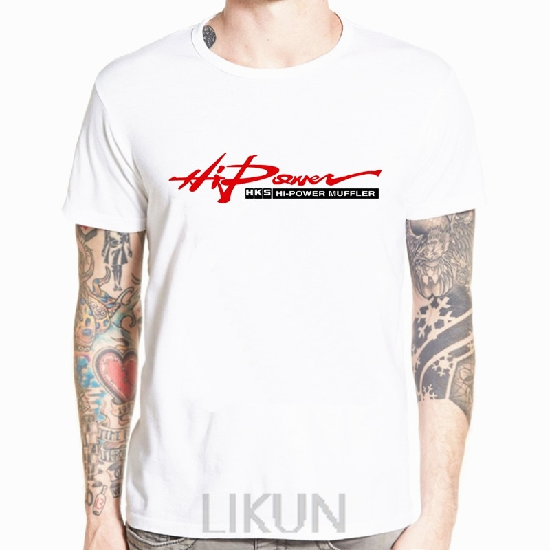 Limitado HKS Power y Sportser Performance Turbo Logo blanco camiseta verano moda Casual camiseta Casual Tops camisetas