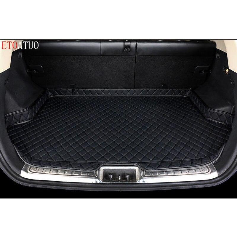 Lado alto estera de maletero de coche a prueba de agua bandeja de maletero de coche Liner Cargo almohadilla trasera para Mazda 3 Axela Sedan Hatchback 2011 12 13-2019
