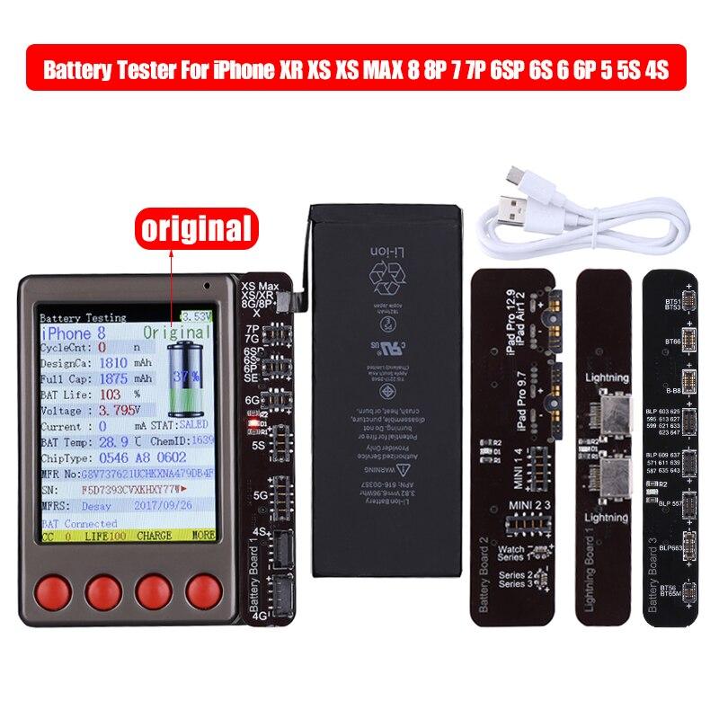 جهاز اختبار كابل البيانات والبطارية لأجهزة iPhone و iPad و Android و XR و XS و MAX و X و 8 و 8P و 7 و 7P و 6 و 6S و 5 و 4S