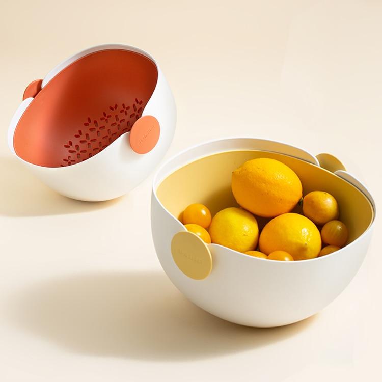 الإبداعية الفاكهة سلة غسيل بالوعة تخزين طاولة غرفة المعيشة تنظيف الخضروات حوض القهوة Cesta دي Frutas أدوات مطبخ DF50G