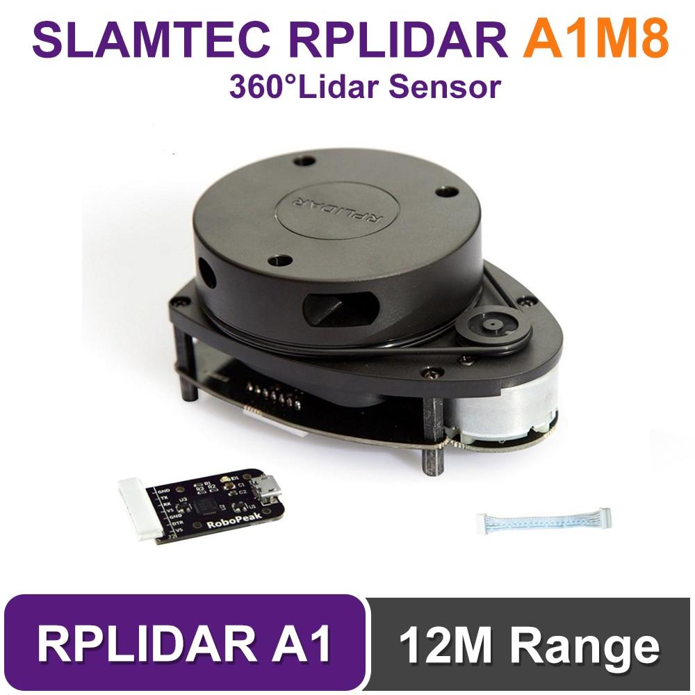 Medidores de Varredura Scanner para Robô Navega e Evita Slamtec Rplidar Graus 12 Raio Lidar Sensor Obstáculos a1 2d 360