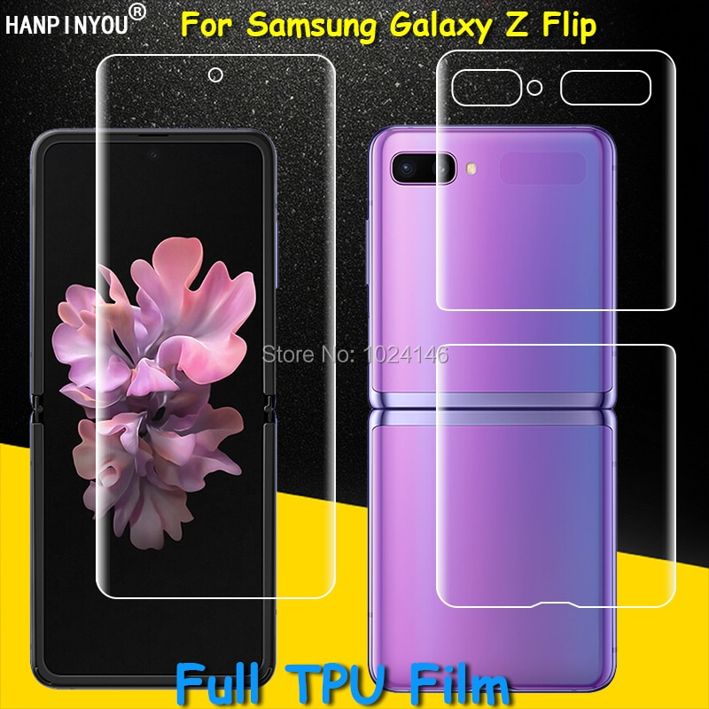 Front / Back Full Coverage Clear Soft TPU Film Screen Protector For Samsung Galaxy Z Flip ZFlip , Co