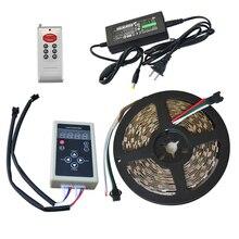 5m 12V IP67 Silicone étanche 6803IC Magic Dream couleur LED Flexible RGB LED bande 30LED/m 5050SMD chasse lumières avec contrôleur