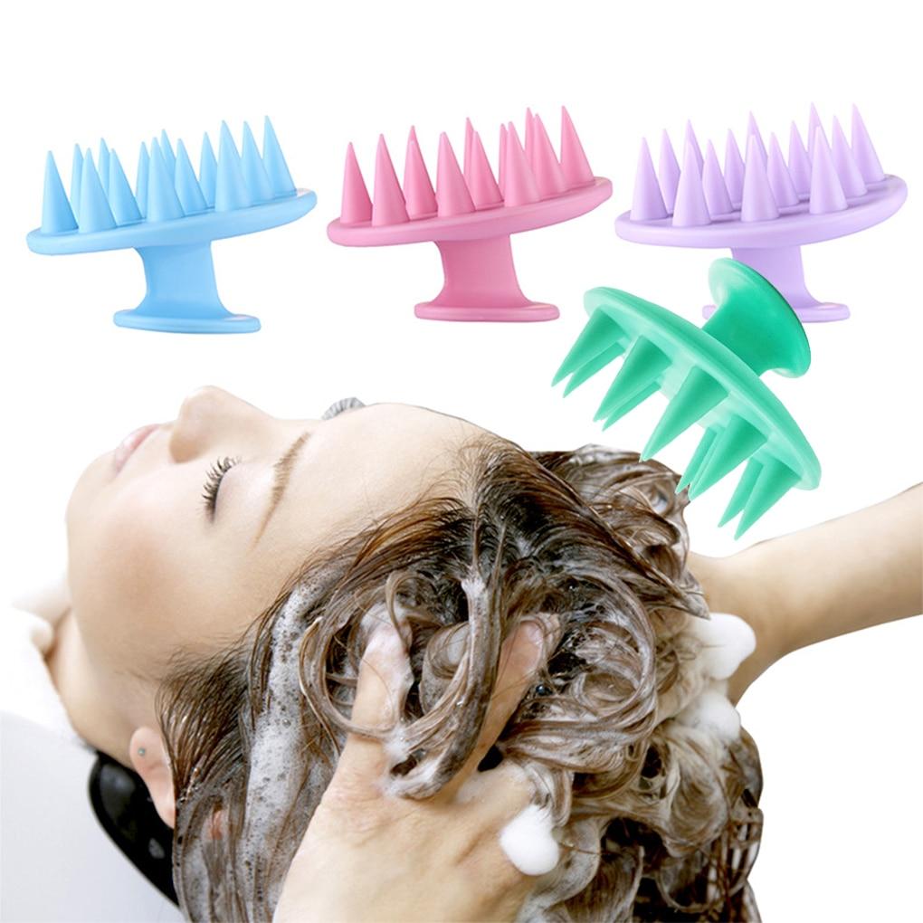 1 pcs Silicone Head Body Scalp Massage Brush Comb Shampoo Hair Washing Comb Shower Brush Bath Spa Sl