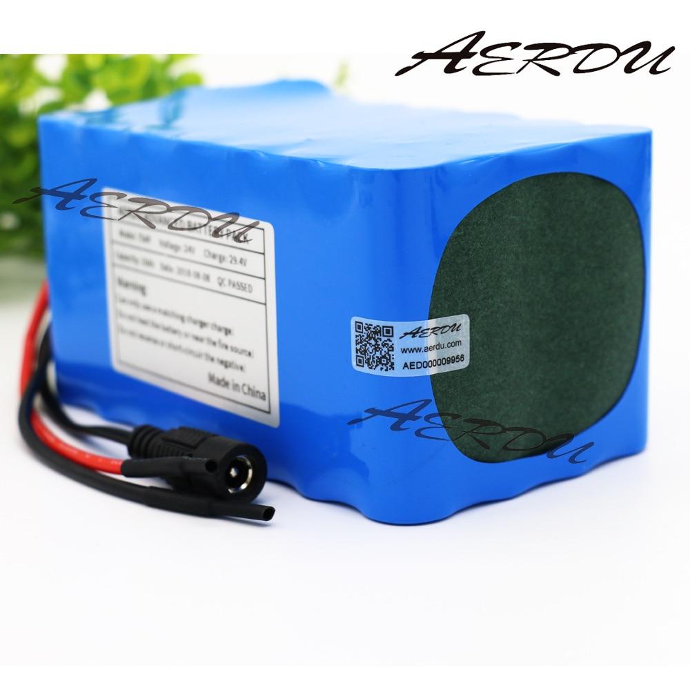 AERDU-بطارية ليثيوم أيون 7S4P ، 24 فولت ، 10 آه ، 20 أمبير ، BMS ، 450 واط ، 29.4 فولت ، 25.9 فولت ، للدراجة البخارية الكهربائية