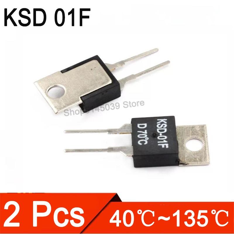 2Pcs KSD 01F 40-135 DegC NC Normally Closed NO Normally Open 1.5A Thermal Switch Temperature Sensor Thermostat KSD-01F JUC-31F