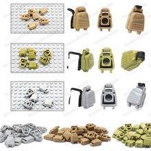 Fournitures militaires sac à dos chiffres bloc de construction armée équipement ww2 soldat armes Style enfant cadeaux de noël jouets éducatifs