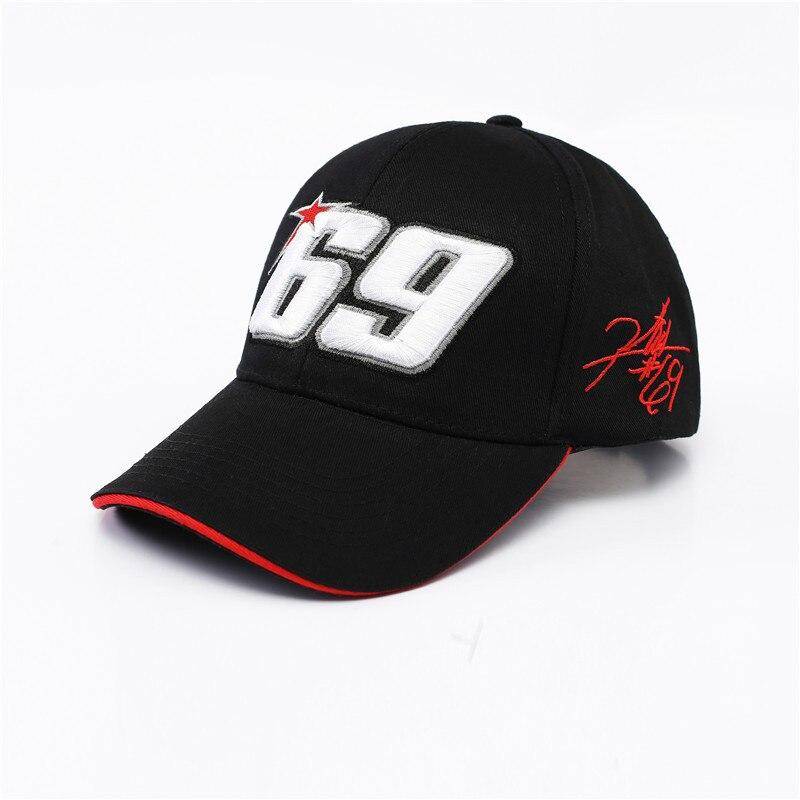 Novedad, sombrero negro, gorra deportiva, sombrero de carreras para motocicleta, gorra de béisbol para MOTO GP 69, gorra de carreras para hombre, gorra de carreras para hombres
