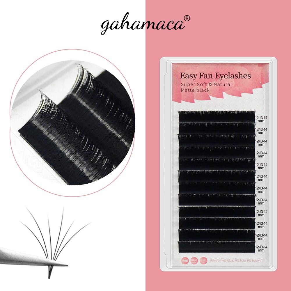 pro eye lash GAHAMACA Easy Fanning Eyelashes Extensions Fan Eyelash Bloom Flare Eye Lash Russian Lash Volume Cilia Silk Lash