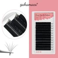 gahamaca easy fanning eyelashes extensions fan eyelash bloom flare eye lash russian lash volume cilia silk lash