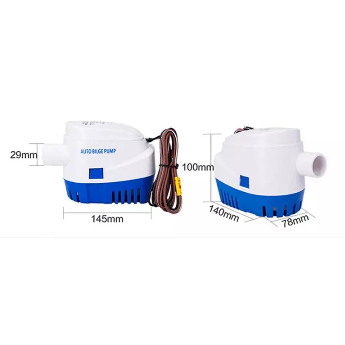 Bomba de agua de sentina automática 12V 750GPH para bomba de coche sumergible con interruptor de flotador barco marino cebo tanques peces
