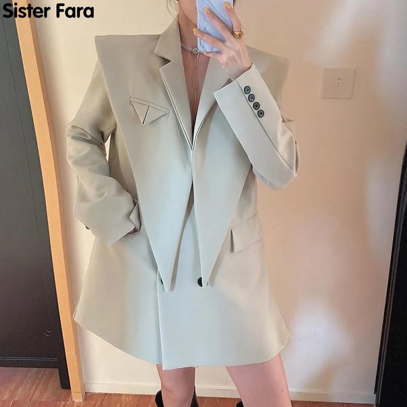 AliExpress - Sister Fara New Fashion Chic Blazer Long Sleeve Jacket Women Spring Double Breasted Jacket Coat Autumn Office Lady Loose Blazers