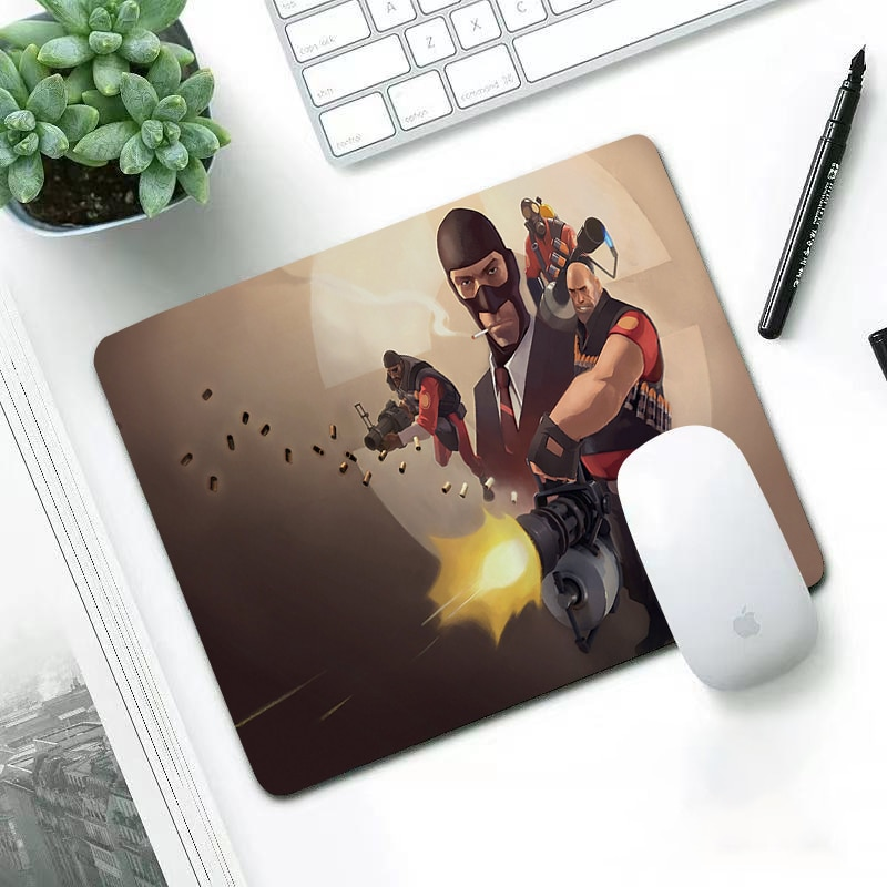 Luxury Team fortress 2 lovely wear-resisting small 29x25cm office leisure edge anti slip washable laptop game mouse pad enlarge
