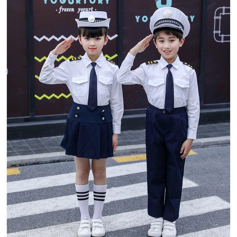 زي مدرسي ياباني قطني للأطفال ، زي مدرسي كوري ، قميص أبيض ، تنورة بحرية ، شورت ، ربطة عنق ، بدلة طالب
