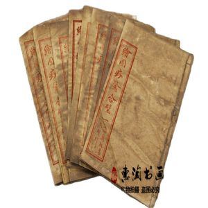 China Old Thread Stitching Book Medical Health Care Scraping Therapy Books 8