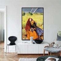 Toile de peinture de la jeune fille aveugle peinte par un ancien peintre de Raphaelite  John Everett Millais  affiche retro  tableau dart mural  decoration de maison