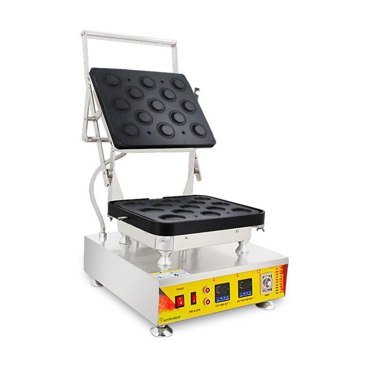 Nuevo equipo de panadería, máquina de prensa de cáscara de tarta, máquina de gofres de diferentes formas, máquina de tartlets a la venta