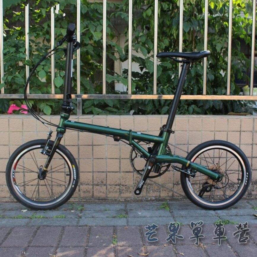 "Bicicleta plegable de 16 ""Minivelo Mini velo bicicleta urbana de acero CR-MO V freno 9 de una sola velocidad"