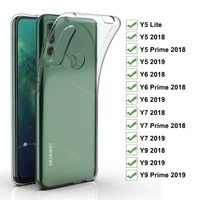case for huawei y5 lite y5 y6 y7 prime 2018 2019 tpu silicon clear fitted bumper soft case for y9 2018 prime 2019 back cover