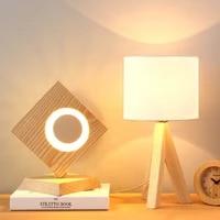 Lampe De chevet classique a LED en bois  ideal pour un salon ou une chambre a coucher