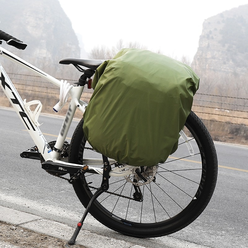 Nueva funda impermeable para asiento trasero bolsa de viaje impermeable cubierta de polvo a prueba de lluvia para bicicleta bolsa de Camel