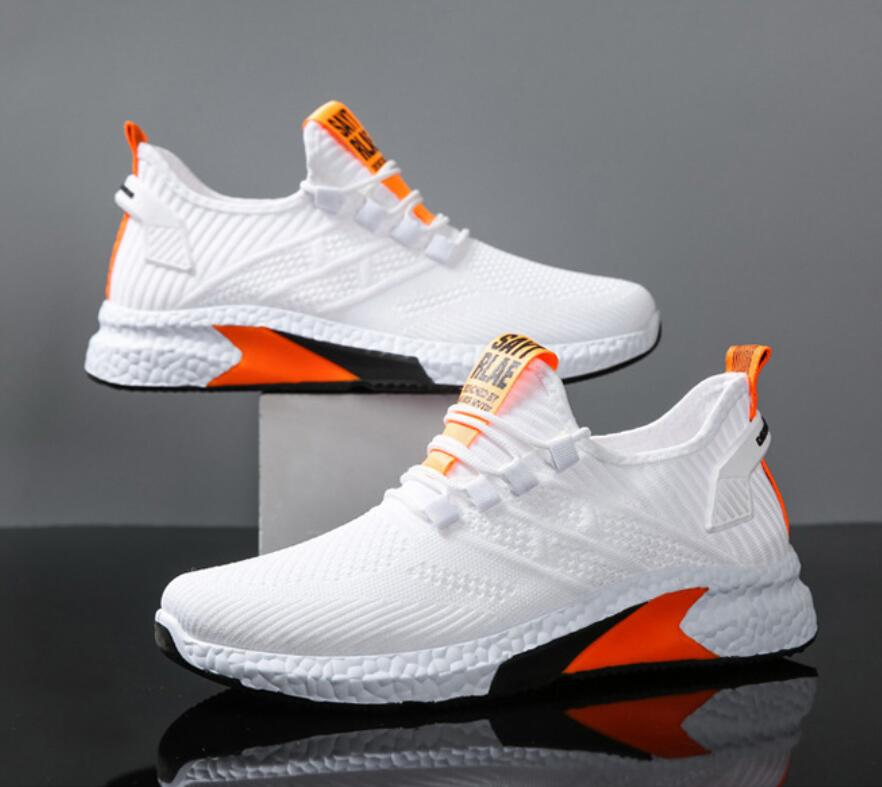 2021Men Casual Shoes mesh Breathable men Sports Shoes Flying woven Coconut shoes Travel shoes fashion Men Sneakers running shoes