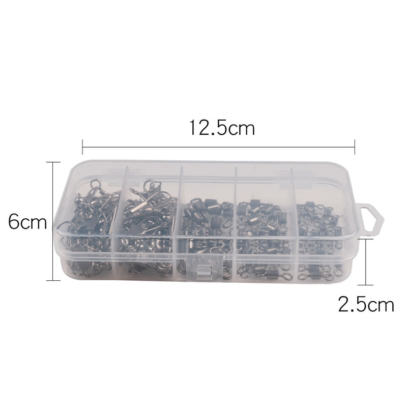 Stainless Steel Fishing Connector 8-word Ring Connector Rolling Swivel Solid Ring 50Pcs/lot Fishing Hook Tools Pesca enlarge